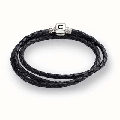 Chamilia ebony gevlochten lederen wrap armband (56.4 cm/22.2 in) 1 1212-0004