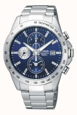 Lorus Mens chronograaf stalen armband horloge RF851DX9