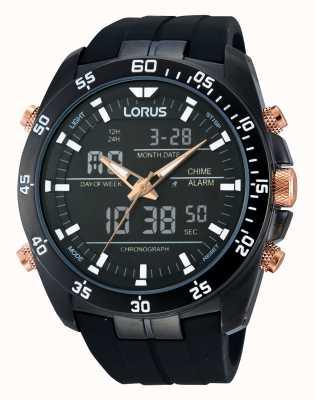 Lorus Zwarte alarm chronograaf RW615AX9