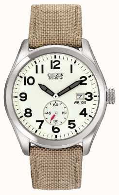 Citizen Eco-drive herenhorloge met canvas band BV1080-18A