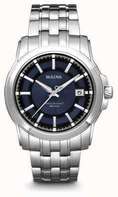 Bulova Herenhorloge met precisie, blauw zilver 96B159