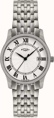 Rotary Gents zilver toon stalen horloge GBI0792/21