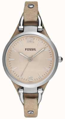 Fossil Dames analoge lederen band riem ES2830