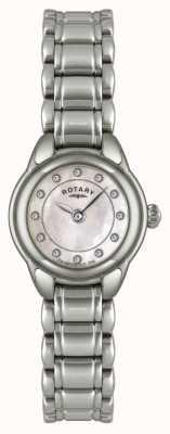 Rotary Vrouwen stenen reeks roestvrij stalen horloge LB02601/07