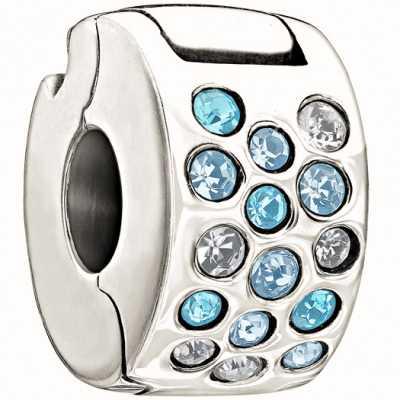 Chamilia Glimmer lock-blauw & heldere 1430-0006
