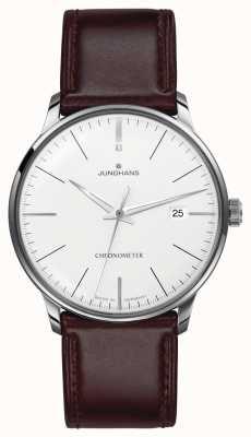 Junghans Heren meister chronometer bruine lederen band 027/4130.00
