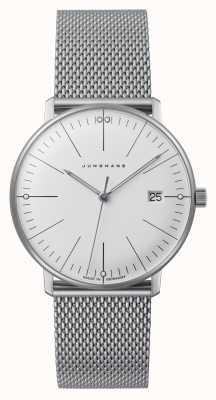 Junghans Max bill dames | roestvrij stalen gaas armband | witte wijzerplaat 047/4250.48