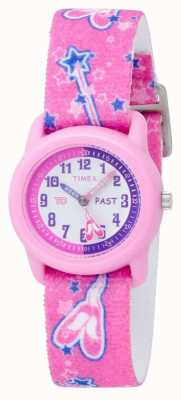 Timex Kids roze ballerina analoge band horloge T7B151
