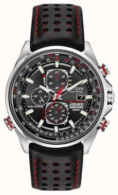 Citizen Rode pijlen gent bij d9 chronograaf eco-rijden horloge AT8060-09E