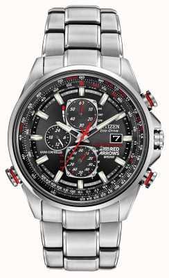 Citizen Rode pijlen gent bij d9 chronograaf eco-rijden horloge AT8060-50E
