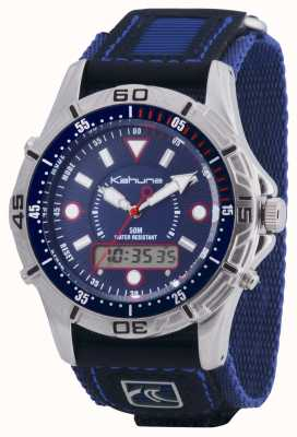 Kahuna Mens quick release velcro chronograaf blauw K5V-0005G