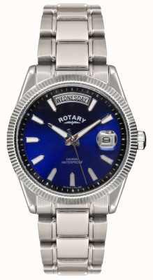 Rotary Gent roestvrij stalen armband havana horloge GB02660/05