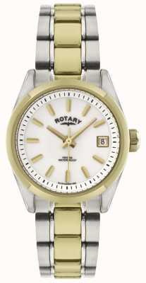 Rotary Dames Havana | tweekleurige roestvrij stalen armband | LB02661/11