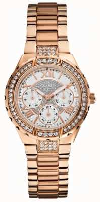 Guess Ladies 'viva multidial rose goud toon sporthorloge W0111L3