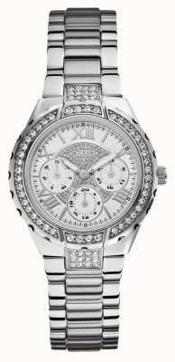 Guess Ladies 'viva multidial zilver toon sporthorloge W0111L1