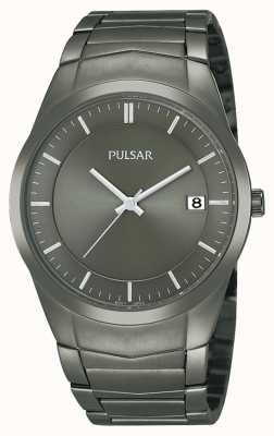 Pulsar Mens ion-plated roestvrij stalen horloge zwarte wijzerplaat PS9153X1