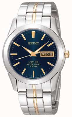 Seiko Midnight blue dial goud detail roestvrij staal SGGA61P1