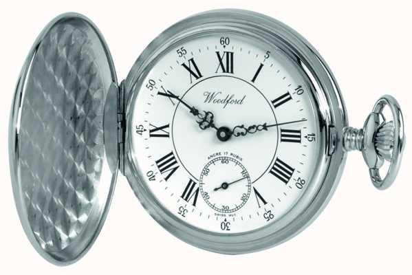 Woodford Mens met de hand gewikkeld mechanische analoog horloge 1012