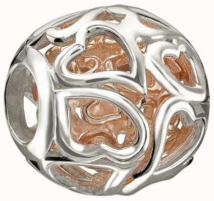 Chamilia Rose goud-veroverde harten 2010-3092