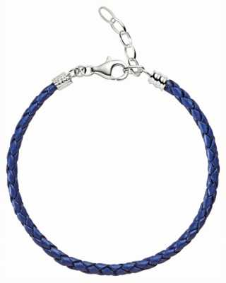 Chamilia One size blauw metallic gevlochten leren armband 1030-0111