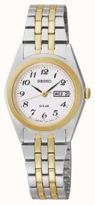 Seiko Dames dag / datum horloge SUT116P9
