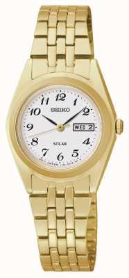 Seiko Horloge met klassieke wijzerplaat op basis van zonne-energie SUT118P9