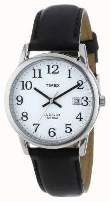 Timex Mens wit zwart gemakkelijk lezer horloge T2H281