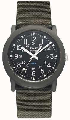 Timex Mens Black groene camper expeditie horloge T41711