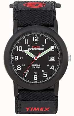 Timex Mens zwart camper expeditie horloge T40011