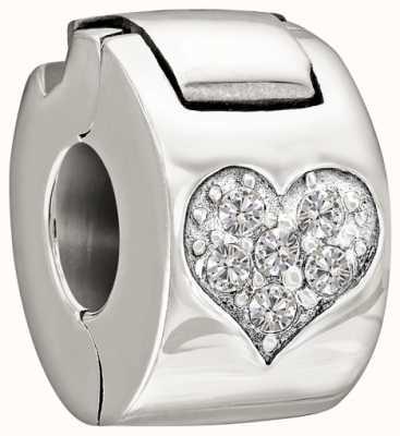 Chamilia Zilver met steen - juwelen hart lock - kristal 1430-0008
