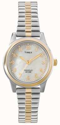 Timex Dames twee-tone jurk expander horloge T2M828