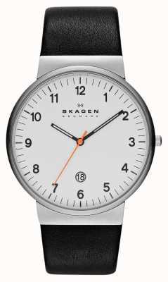 Skagen Mens klassik wit en zwart horloge SKW6024
