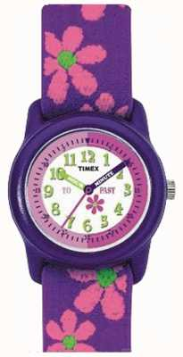 Timex Leren om tijd riem horloge vertellen T89022