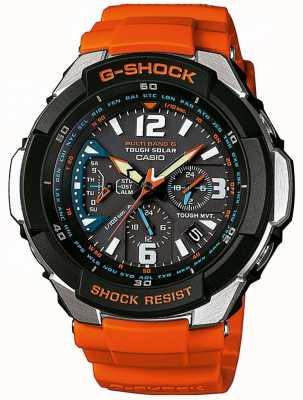 Casio Mens vlieger oranje band horloge GW-3000M-4AER