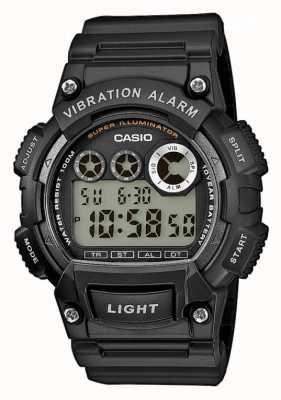 Casio Mens zwart kunststof bandje trilalarm horloge W-735H-1AVEF