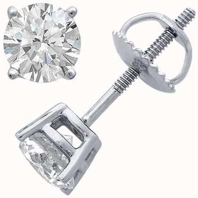 Certified Diamond Oorbellen, vier klauw 1.00ct h si, schroef terug hulpstukken C100PT-4CLAW-HSI