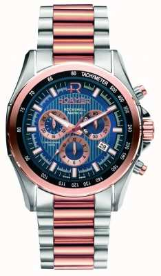 Roamer Mens rockshell roestvrij staal en nam gouden horloge 220837494520