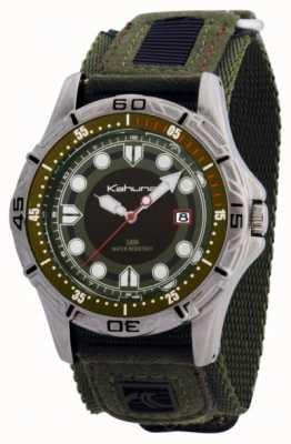 Kahuna heren groen velcro horloge K5V-0003G