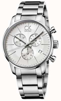 Calvin Klein Mens stad roestvrij staal chronograaf K2G27146