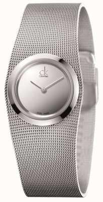 Calvin Klein Ladies 'impulsief, roestvrij staal, zilveren wijzerplaat K3T23128