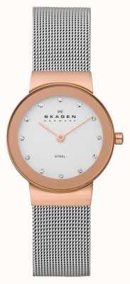 Skagen Freja dames metalen armband horloge 358SRSC