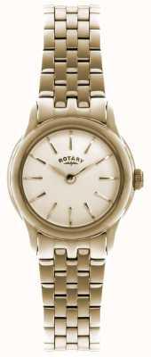 Rotary Dames goud vergulde quartz analoog horloge LB02573/01