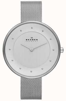 Skagen Ladies klassik zilveren mesh horloge SKW2140