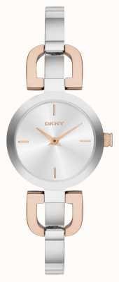 DKNY Ladies 'two tone, armband horloge NY2137