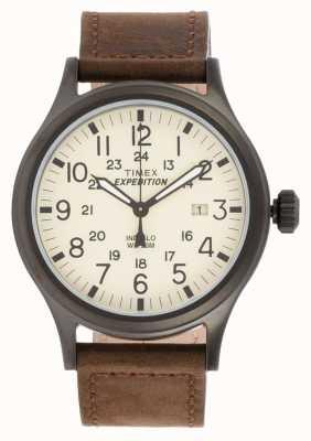 Timex Mens expeditie scout bruin horloge T49963