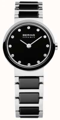 Bering Tijd dames zwart en zilver keramische 10725-742