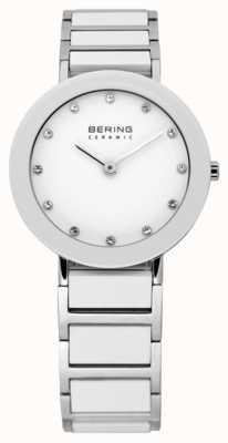 Bering Keramische en metalen armband horloge 11429-754