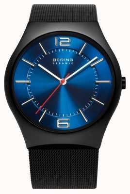 Bering Tijd heren keramische mesh band horloge 32039-447