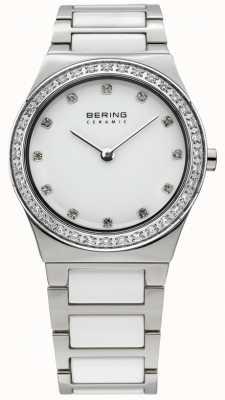 Bering Dames witte keramische quartz analoog horloge 32430-754