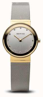 Bering Time dames goud en zilver klassiek gaas 10122-001